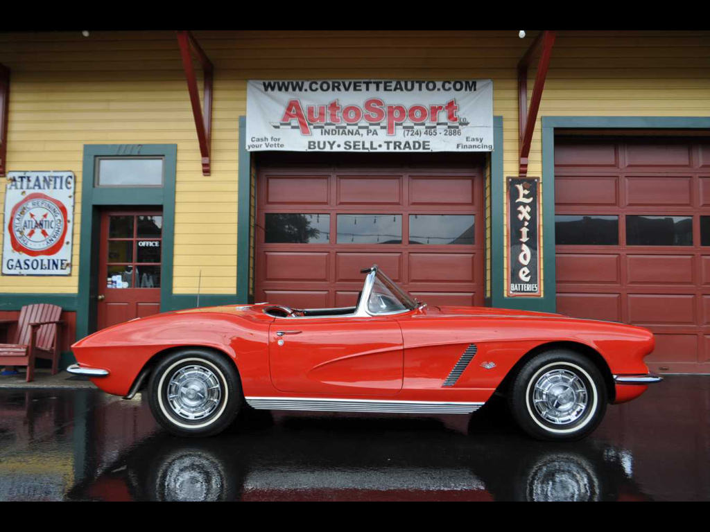 1962 Chevrolet Corvette #s Matching 340hp 4sp Roman Red 2 Tops Owner Histo