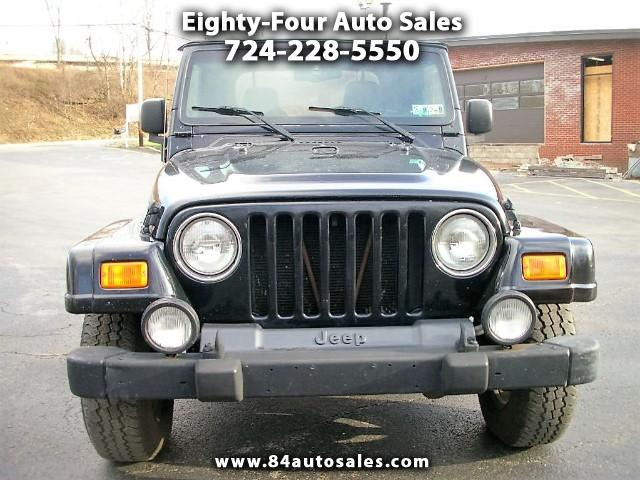 used 2003 jeep wrangler for sale in eighty four pa 15330 eighty four auto sales. Black Bedroom Furniture Sets. Home Design Ideas