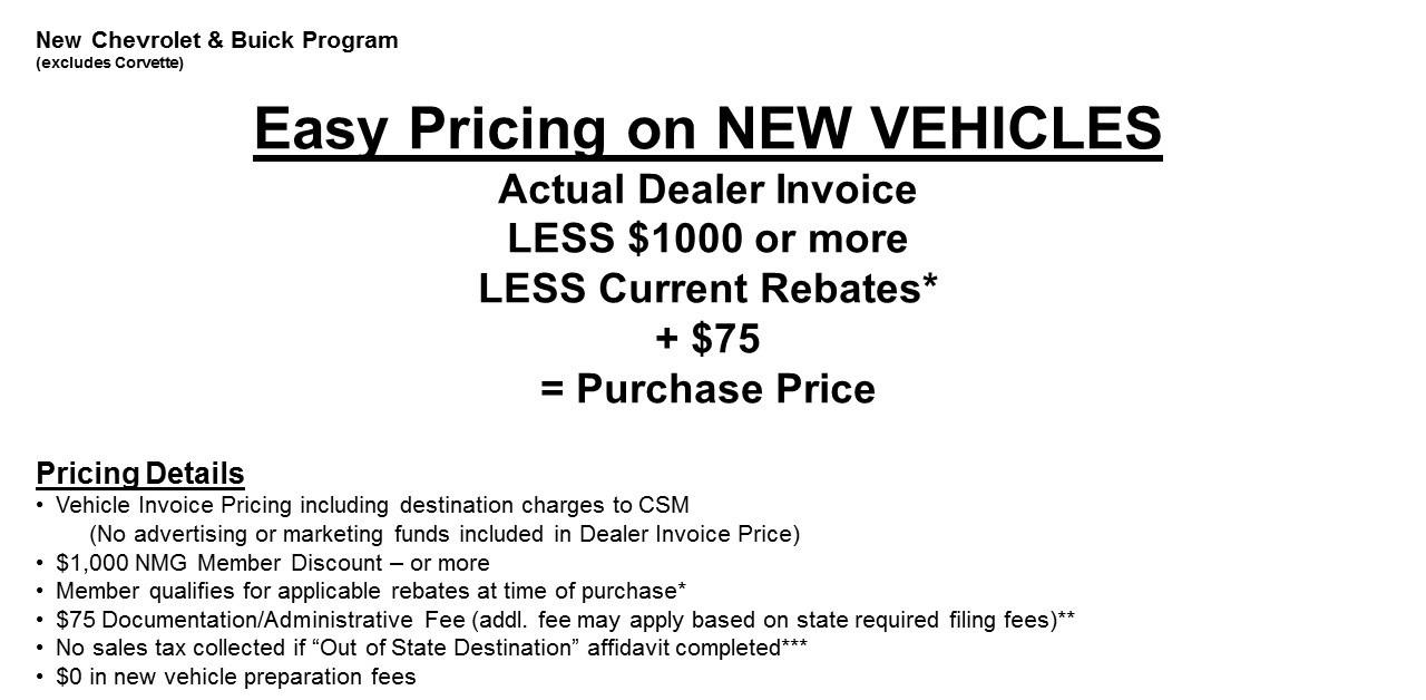 Rebates Specials - Gm dealer invoice price