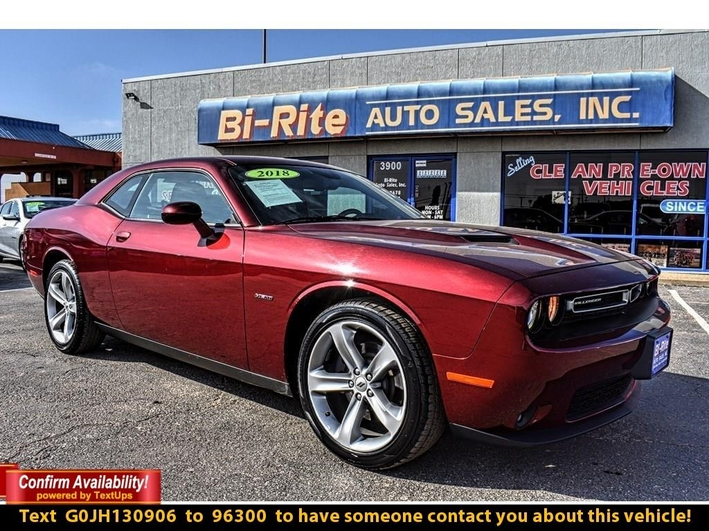 2018 Dodge Challenger R/T COUPE, 5.7 HEMI, STANDOUT FROM THE CROWD, ALLO