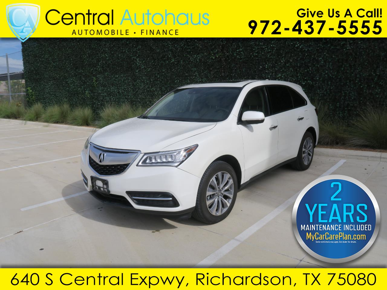 2016 Acura MDX 6-Spd AT w/Tech Package