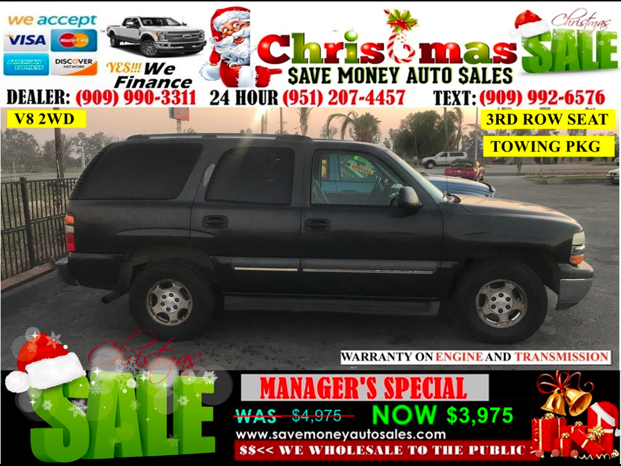 2004 Chevrolet Tahoe 2WD > 3RD ROW SEAT > TOWING PKG
