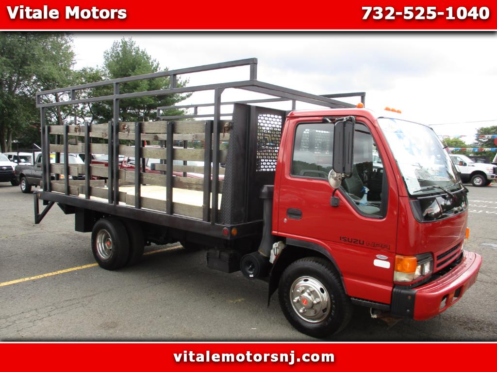 2005 Isuzu NPR 14 FOOT RACK BODY * FLAT DECK * LIFTGATE *