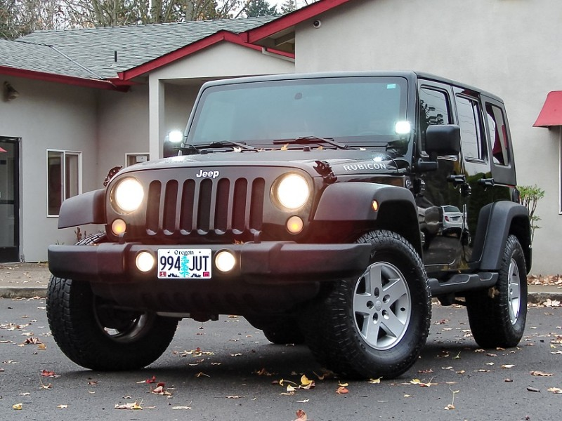 2010 Jeep Wrangler Unlimited Rubicon 4WD Black/Black Well Cared For