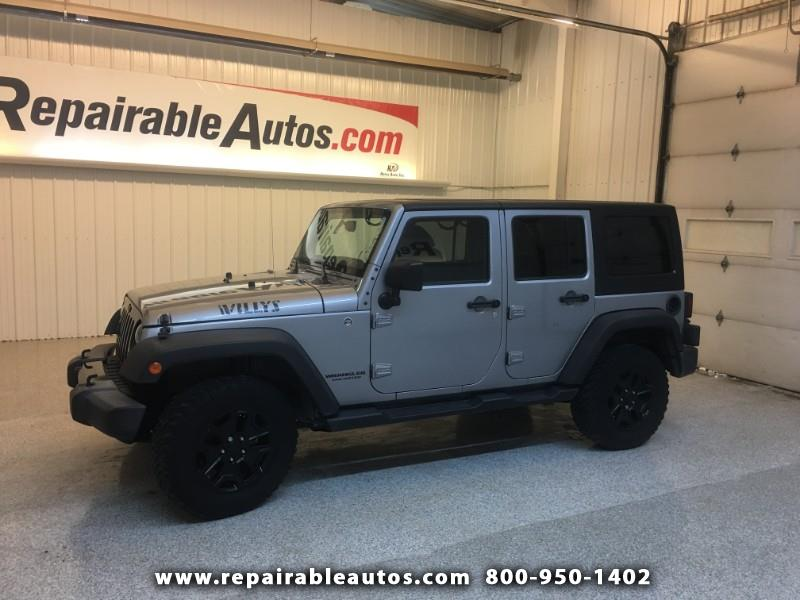 2015 Jeep Wrangler Unlimited Repairable Side Damage