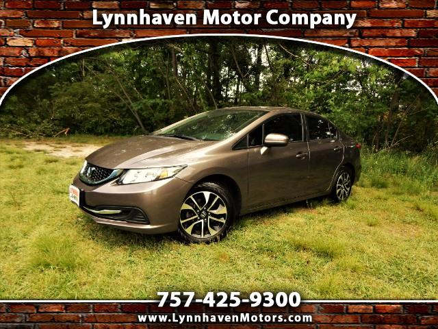 2015 Honda Civic Power Sunroof, Rear & Side View Cameras, 21k Miles