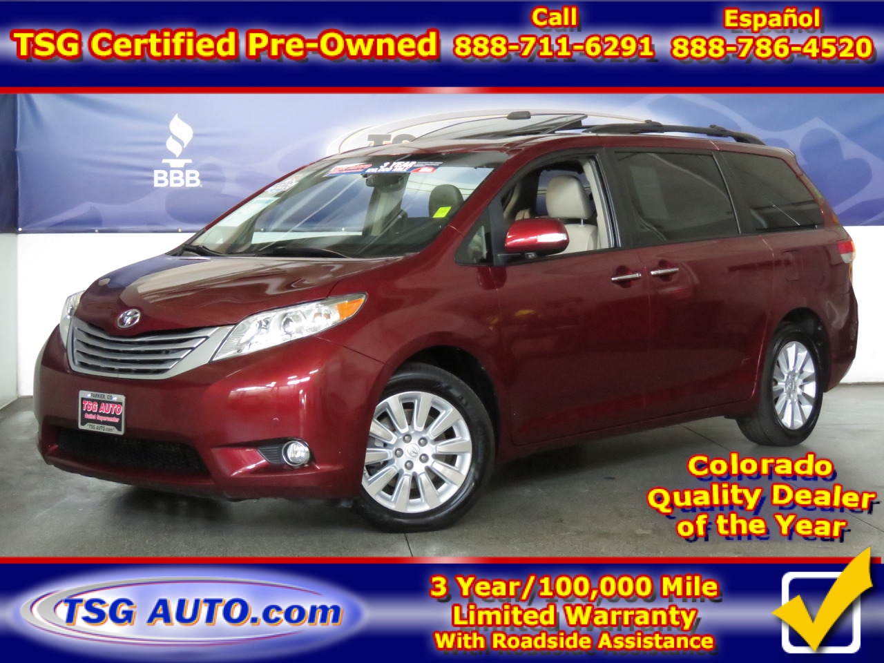 2013 Toyota Sienna 5dr 7-Pass Van V6 Limited AWD
